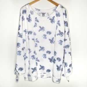 Caslon White Floral Sweater 3X